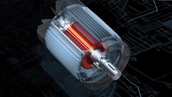 Infografía de un motor