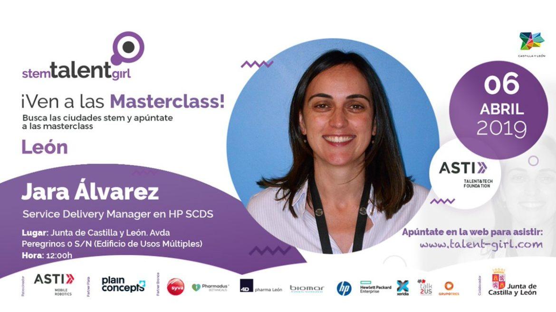 Nuestra compañera Jara Álvarez da una masterclass dentro del programa STEM Talent Girl