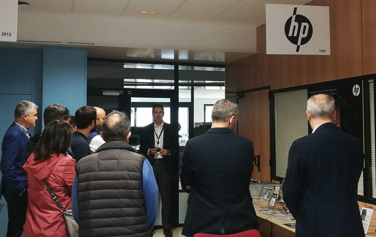 Visita de empresarios a nuestras instalaciones en una de las jornadas organizadas por LeónUP
