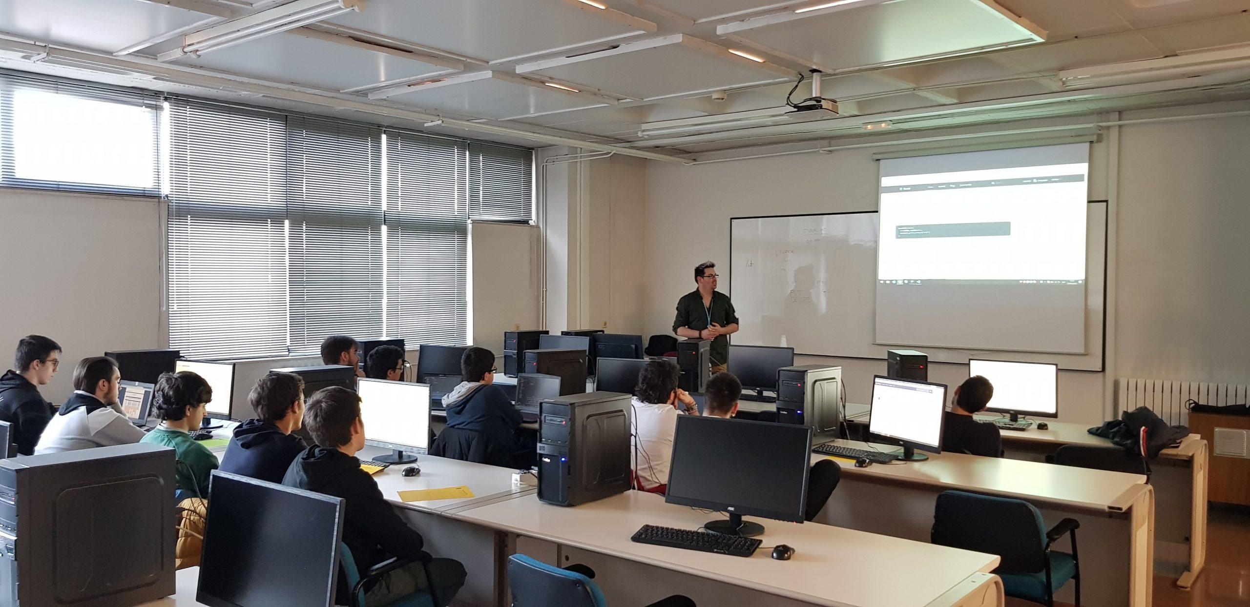 taller en la Universidad de Burgos