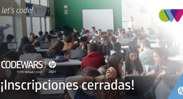 Inscripciones cerradas HP CODEWARS 2021 SPAIN VIRTUAL EDITION
