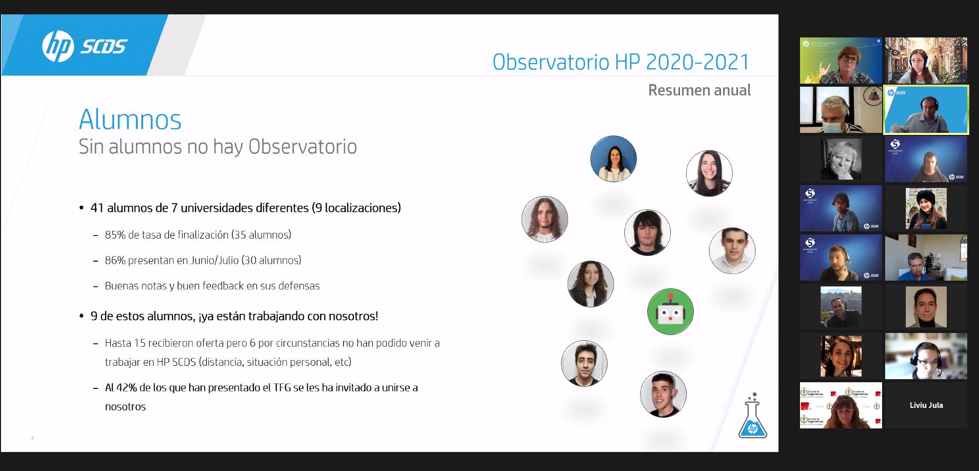 Alumnos XVI Observatorio 2021